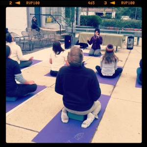 Yoga at Better Block Day 2012