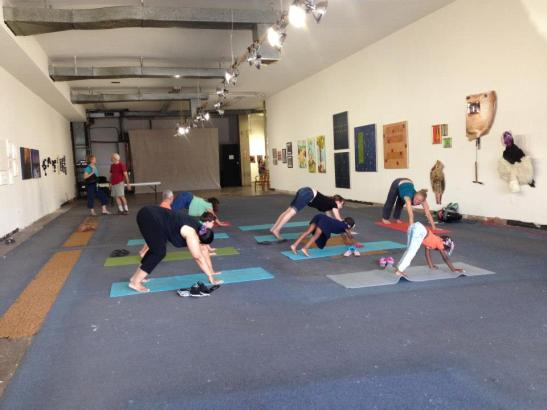 The Jewel Box Gallery after, with art and family yoga!