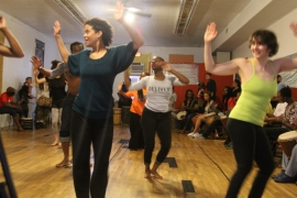 Lesole's Dance Project's open drum and dance session during Art Lives Here Better Block 2014