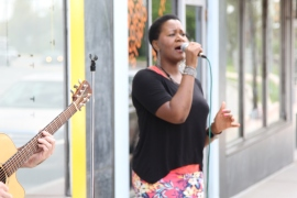 """Tamara Wellons """"pops-up"""" throughout the Gateway Arts District for Art Lives Here's phase II placemaking projects"""