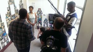 TTP participants interviewing Gateway CDC Executive Director during Open Studios Tour