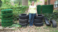 Gateway Arts District Artist Becky Borlan will create a site-specific sculptural installation that utilizes reclaimed automobile tires wrapped in Astroturf.