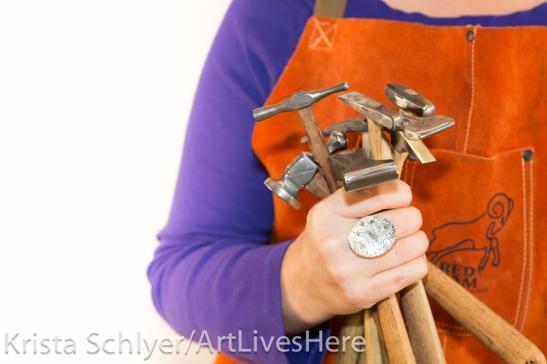 Photo of artist Carol-lynn Swol's tools by Krista Schyler