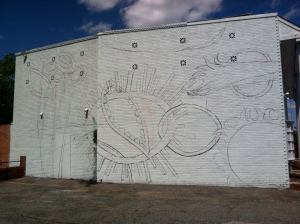 Finished mural outline